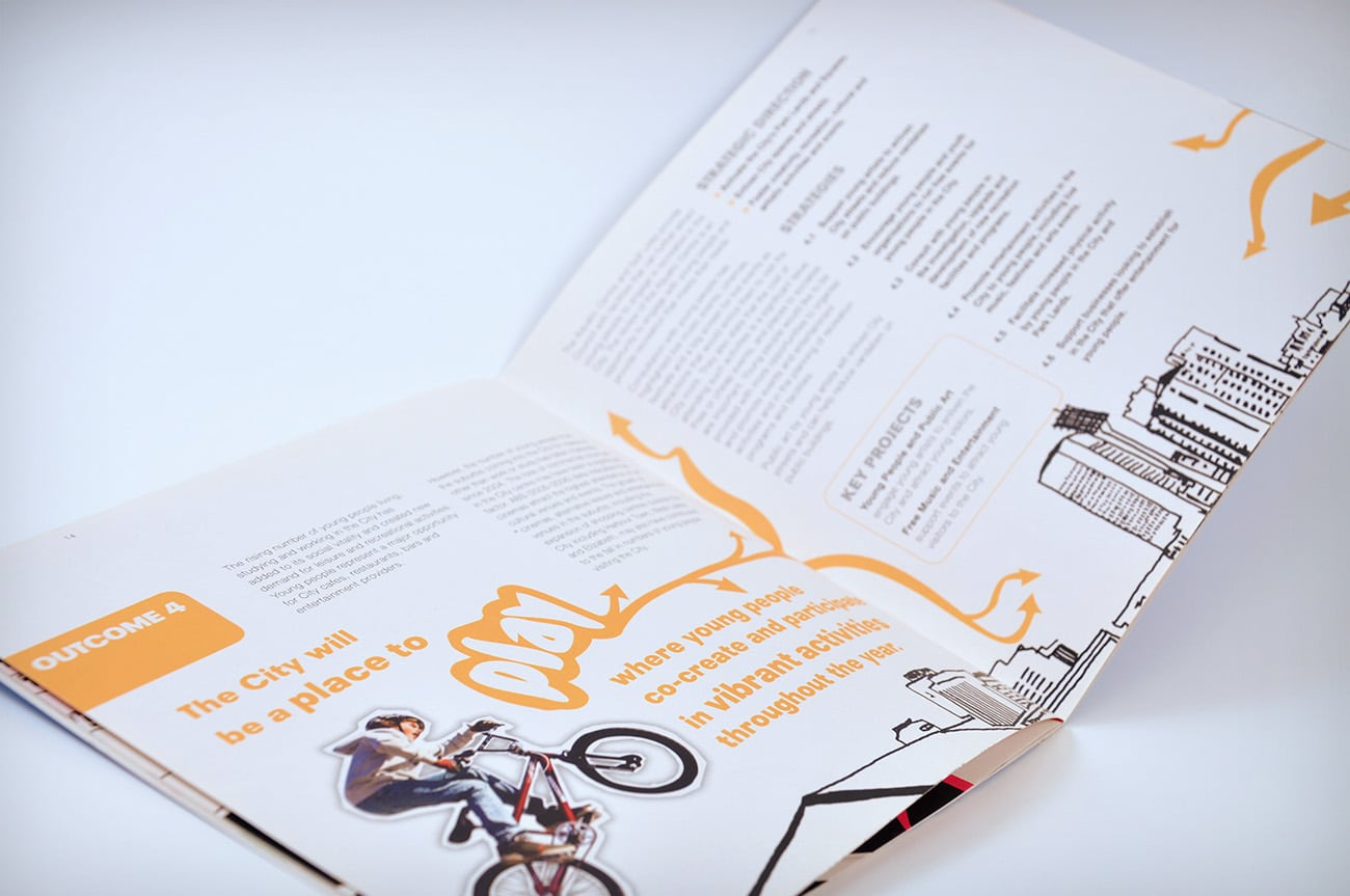 youth strategy brochure design adelaide council