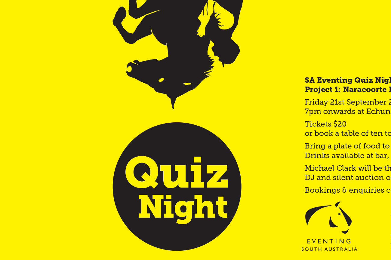 Eventing SA Quiz Night poster design adelaide detail1