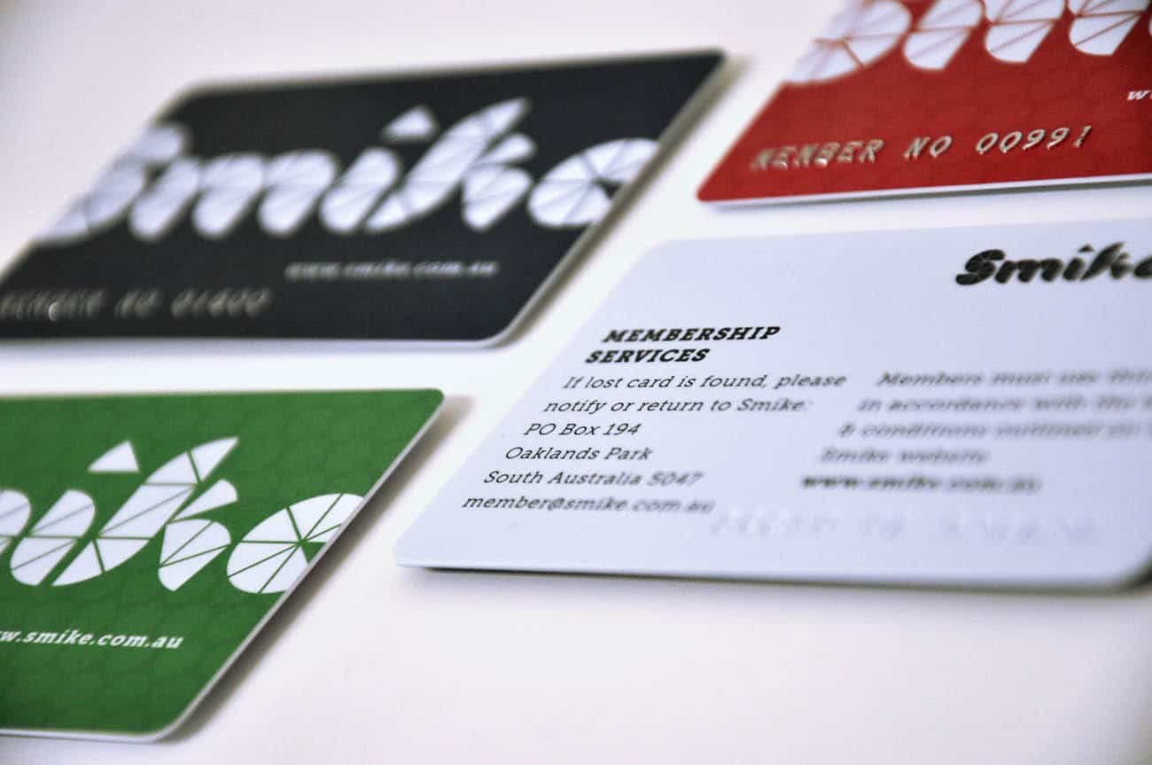 smike membership card design adelaide