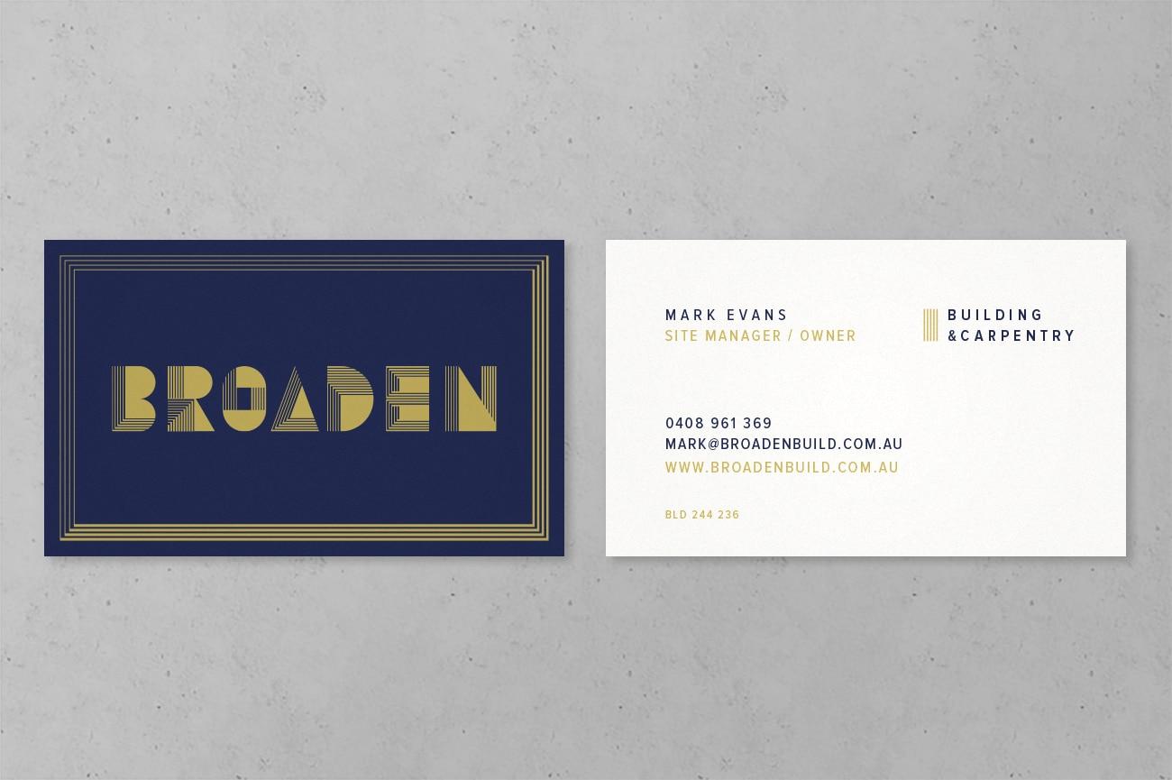business card design adelaide broaden