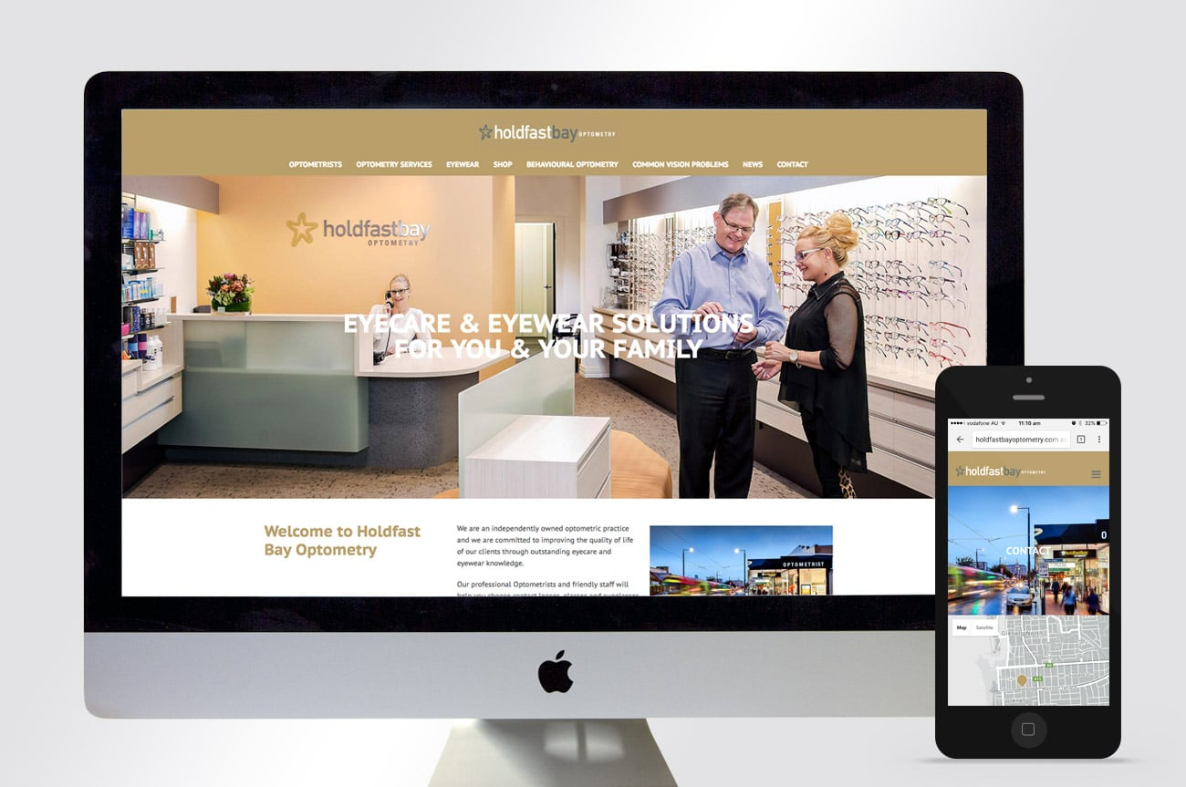 website design holdfast bay optometry adelaide