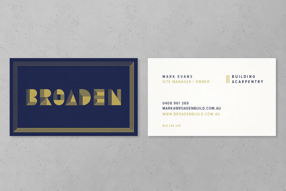 business card design adelaide broaden