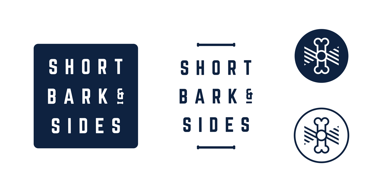 logo design and brand identity for short bark n sides adelaide we also identified the humour contained in the business as a key strength of the brand