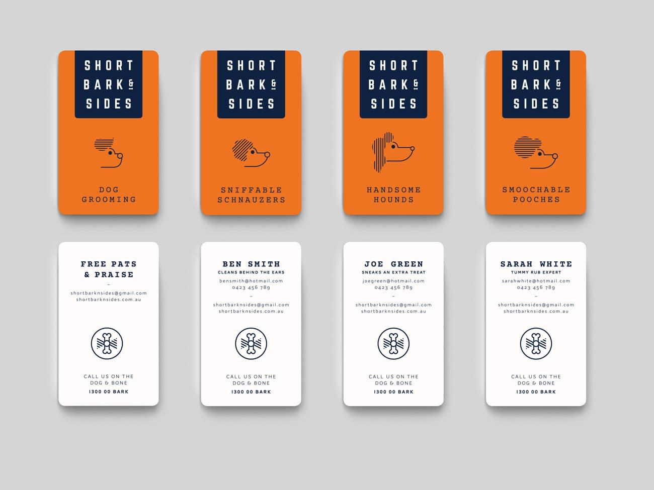 short bark & sides business card design adelaide