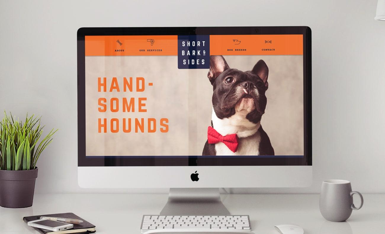 short bark n sides logo design adelaide website