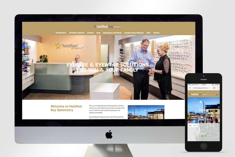 website design holdfast bay optometry adelaide feature