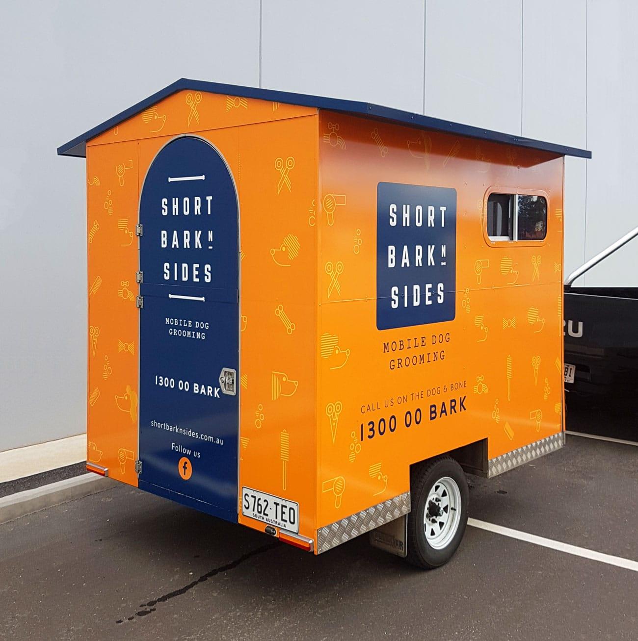 short bark & sides wash trailer design adelaide