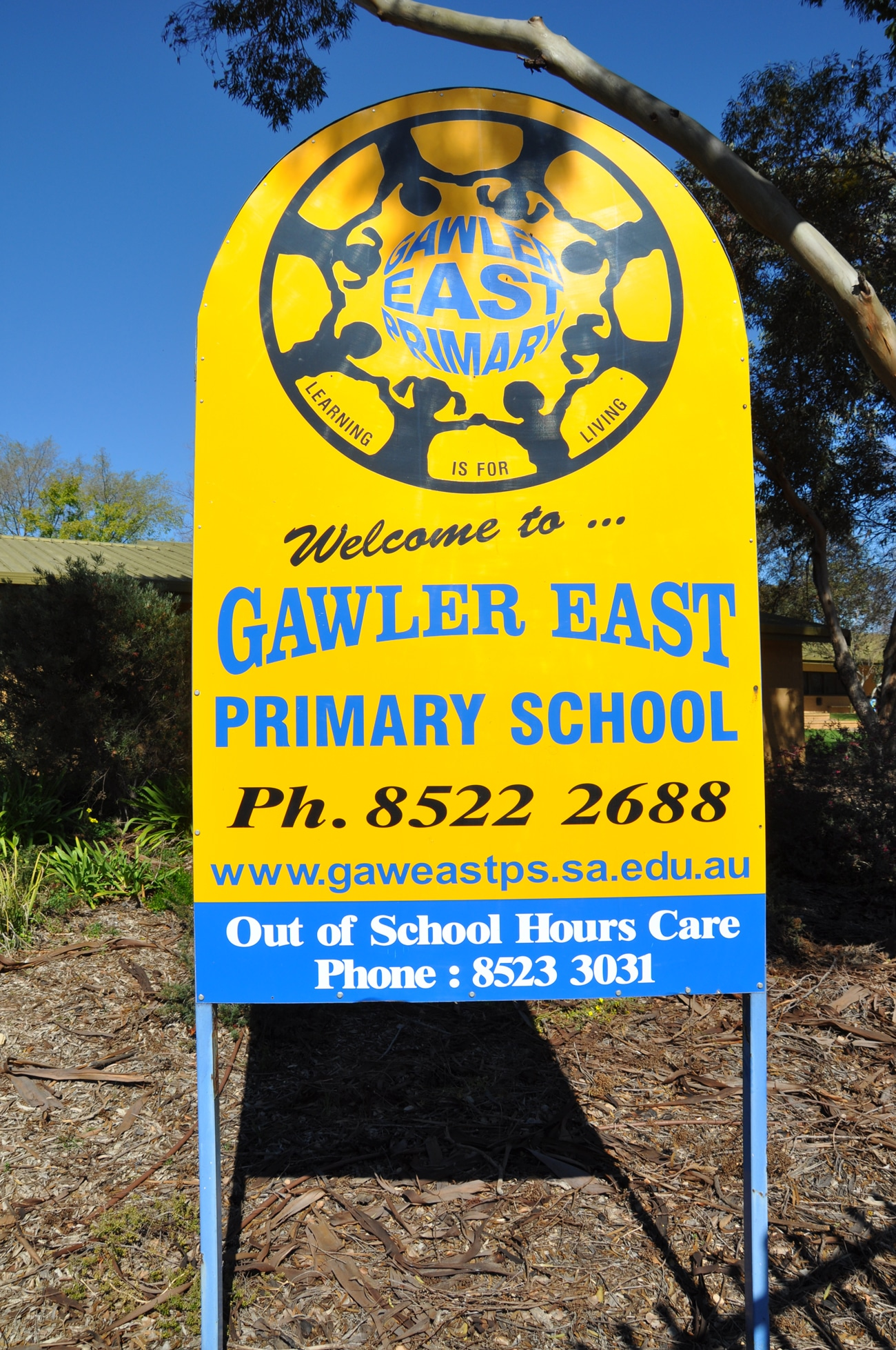 gawler east primary main sign design old