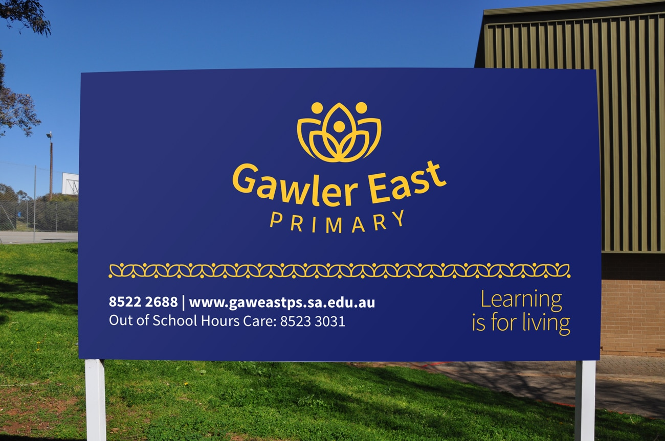 gawler east primary new sign design adelaide