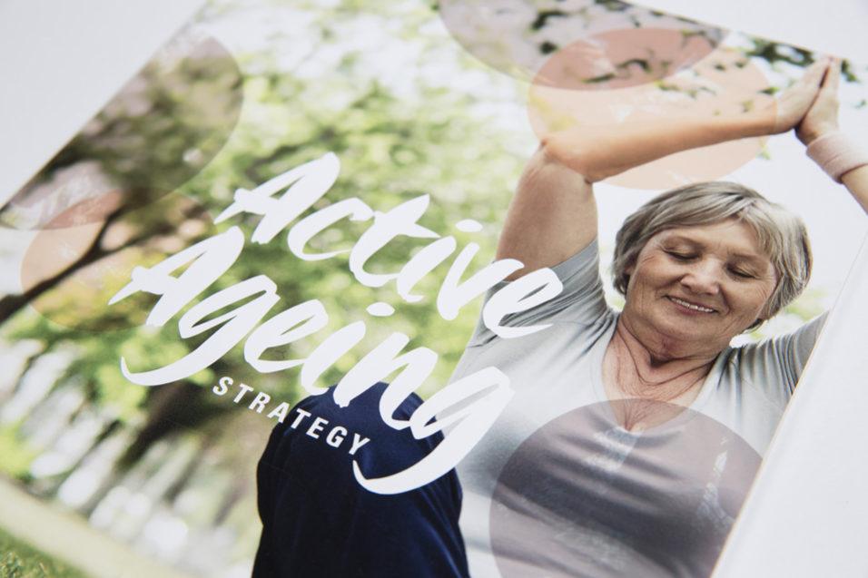 Active Ageing publication image lady doing yoga