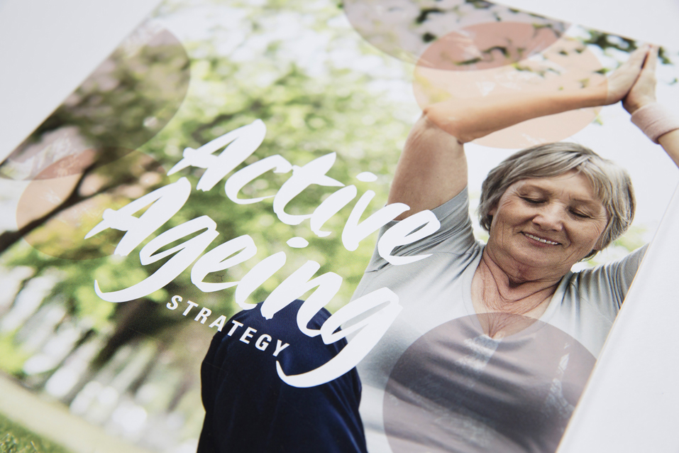 Active Ageing publication image lady doing yoga