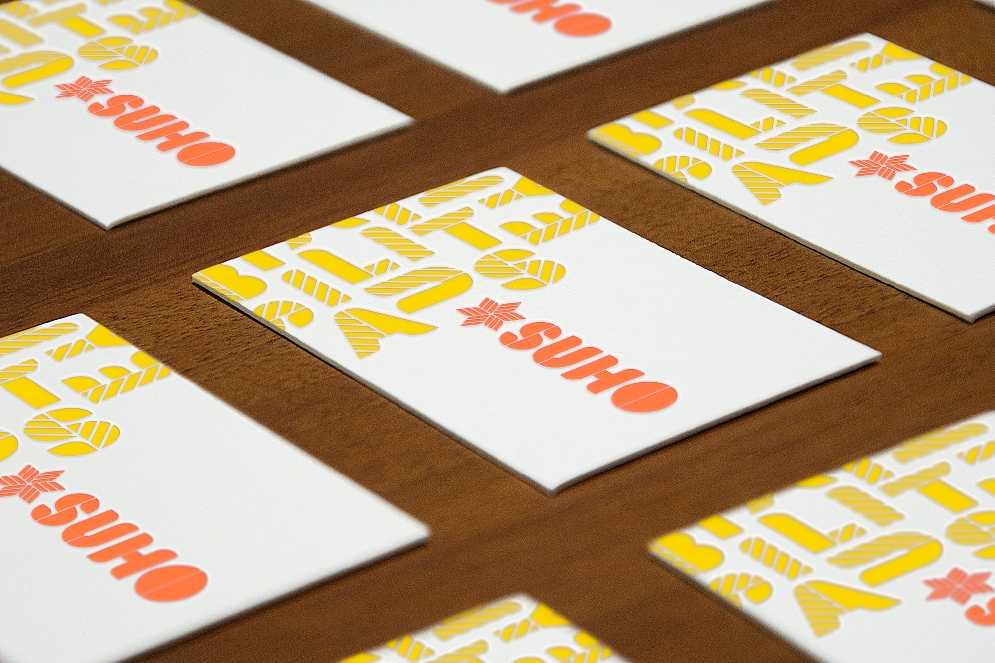 suho letterpress business card design adelaide