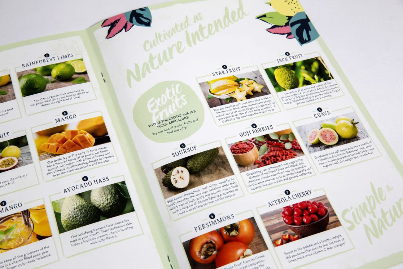 panama organics brochure design internal spread adelaide