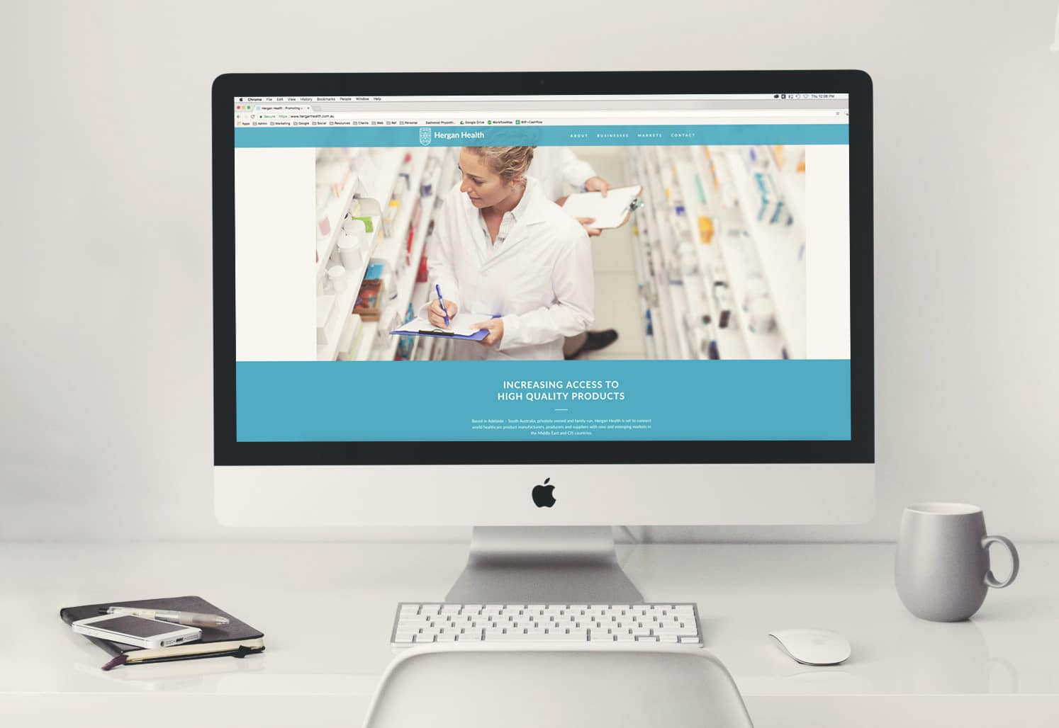 Hergah Health website design adelaide