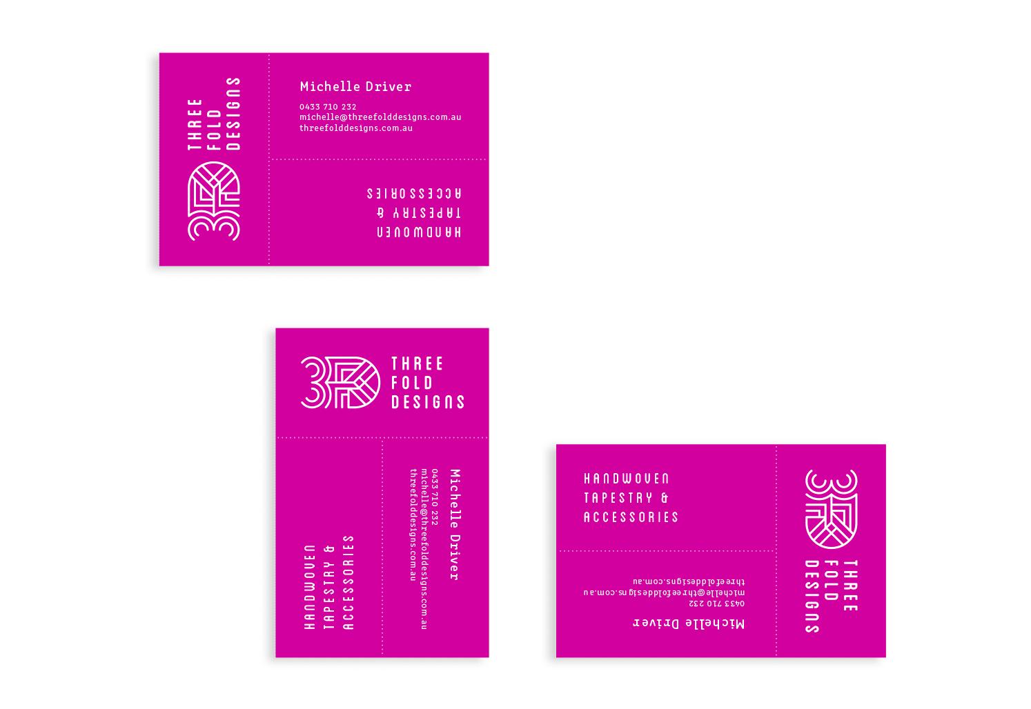 Threeefold-Design-business card design adelaide