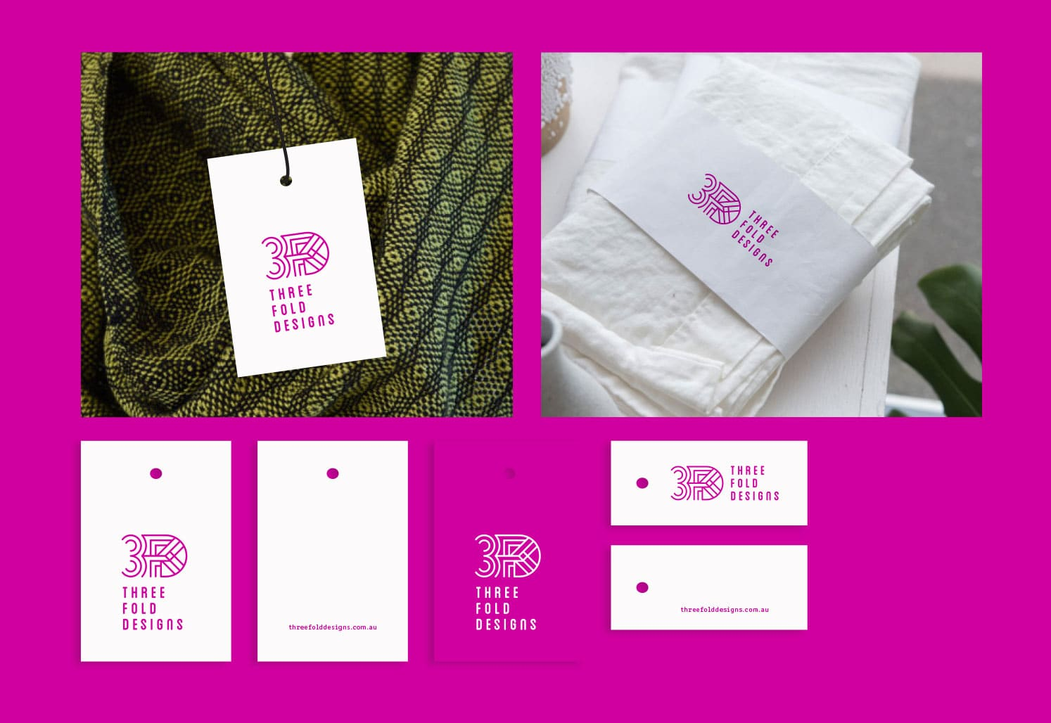Threeefold Design swing tag design