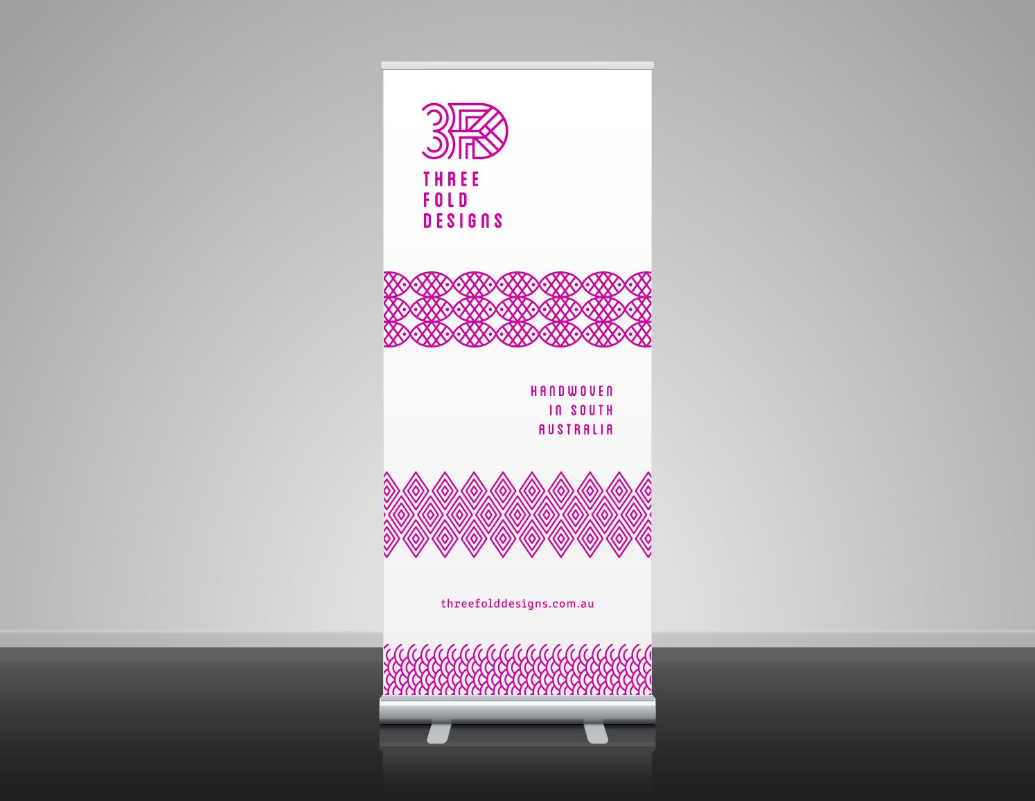 Threefold Designs/Artist, Roll-up banner, Adelaide