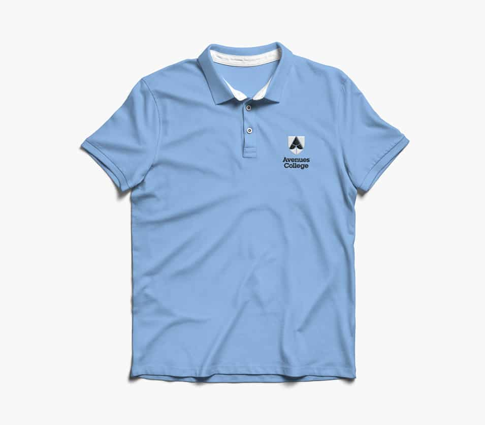 Avenues College Adelaide full polo top design