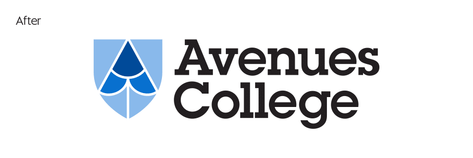 Avenues College Adelaide new logo design