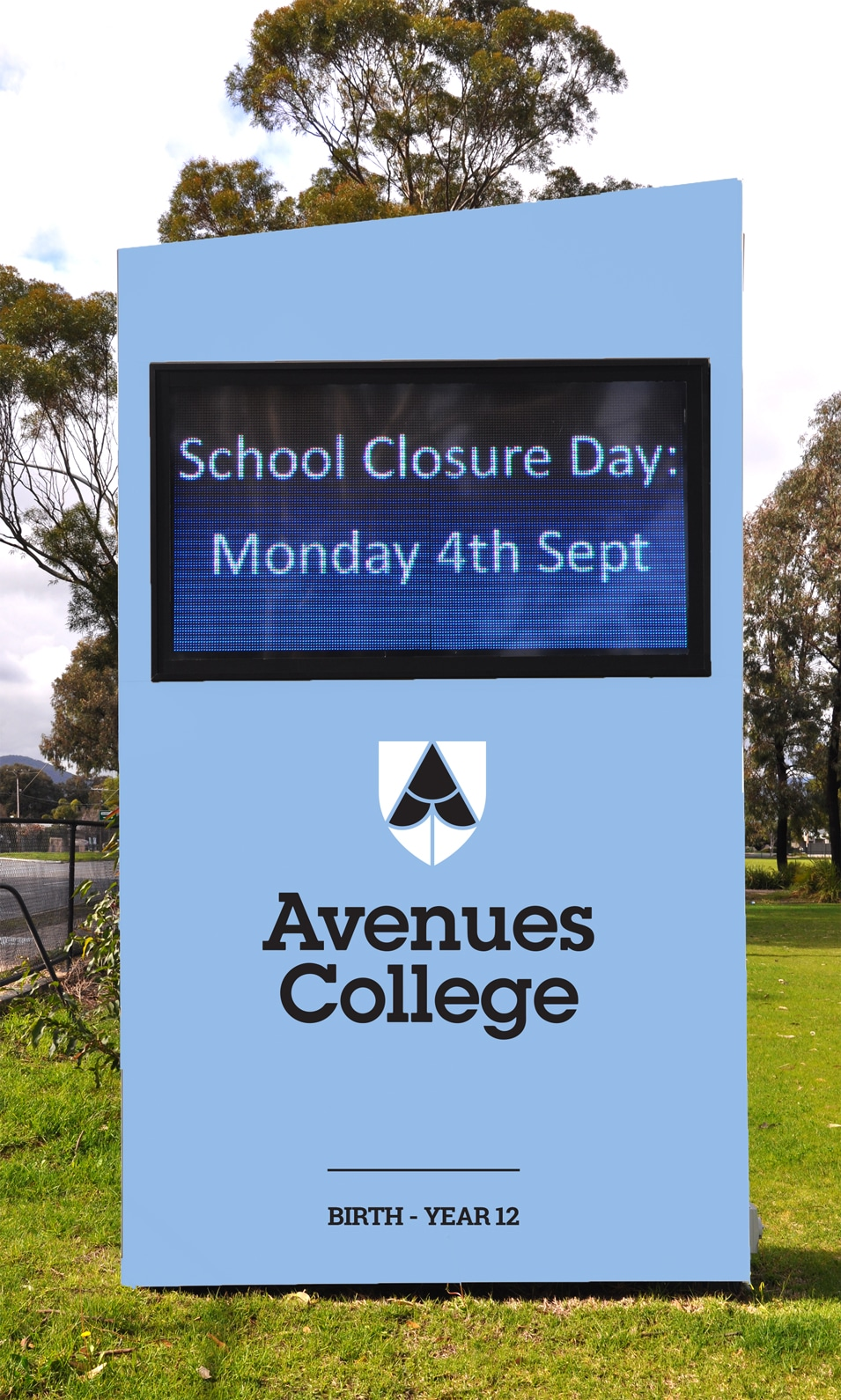 Avenues College identity, school branding, Adelaide design, signage