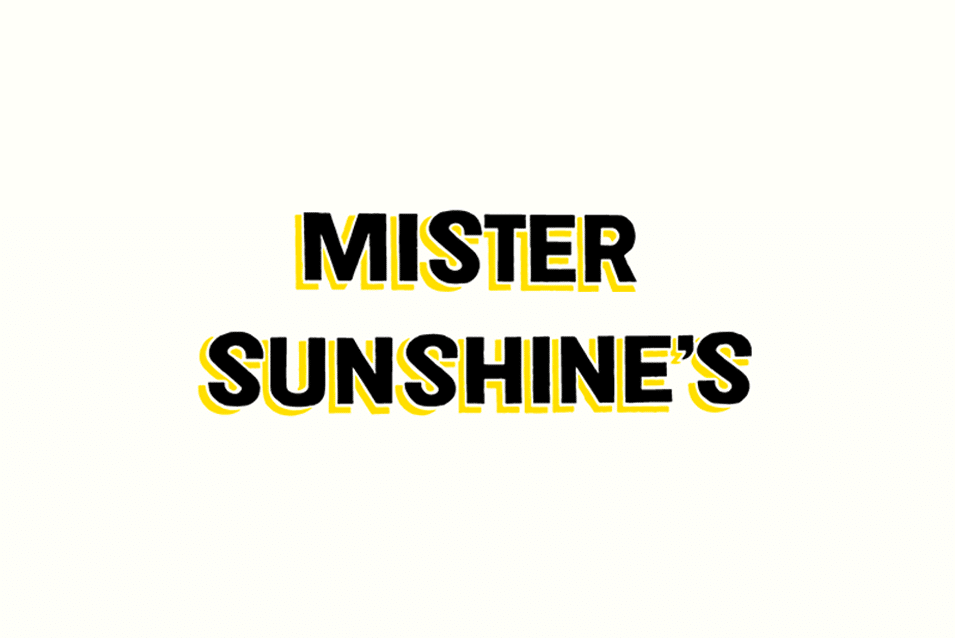 mister sunshines cafe sign design signwriting coffee hipster adelaide