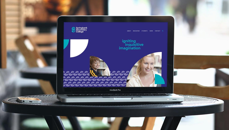 springbank college adelaide website concept design