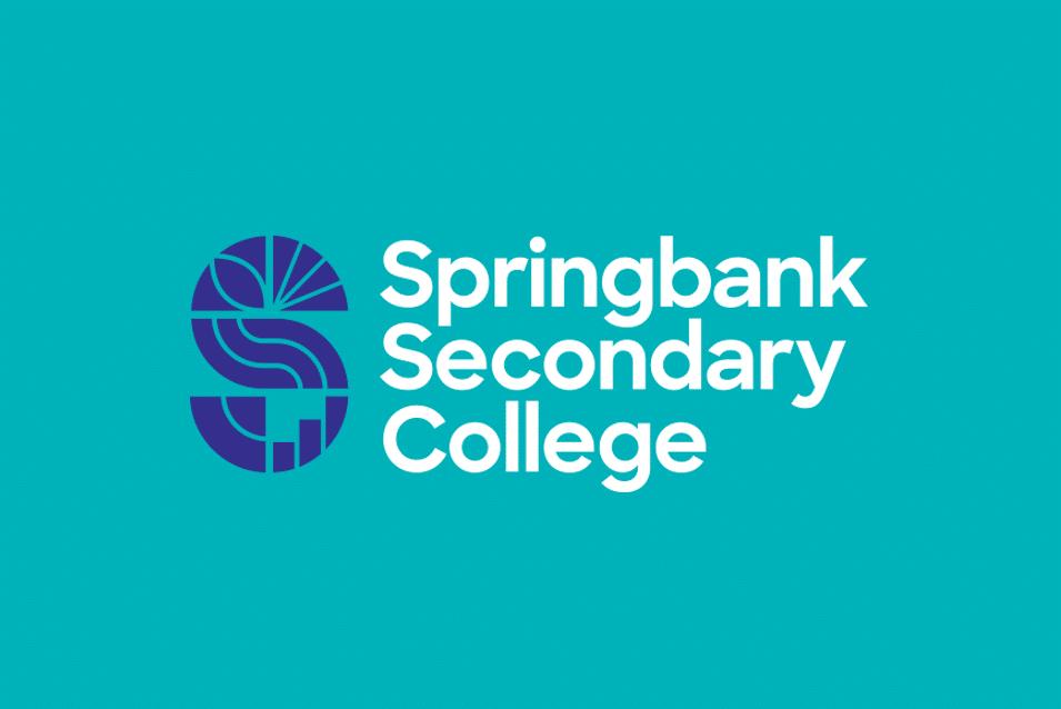 Springbank Secondary College school identity design Adelaide logo