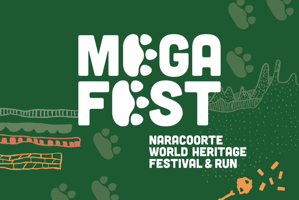 Mega Fest Naracoorte World Heritage Festival and Run 2019 graphic design Adelaide