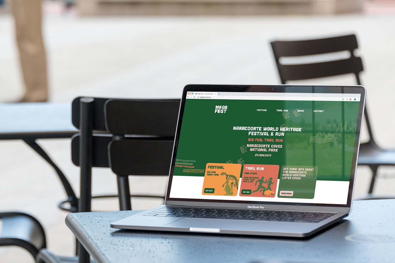 Mega Fest Naracoorte World Heritage Festival and Run 2019 responsive website desktop web design Adelaide
