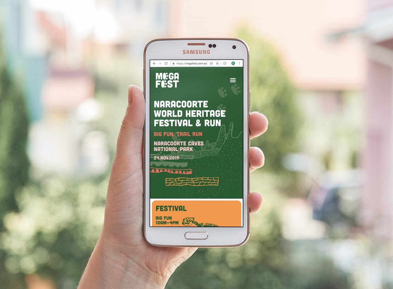 Mega Fest Naracoorte World Heritage Festival and Run 2019 responsive website mobile web design Adelaide