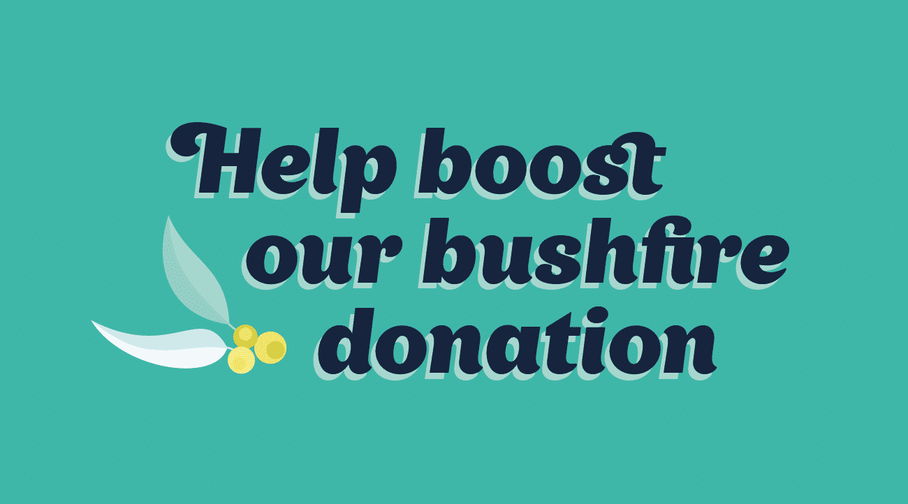 Help us boost our bushfire donation